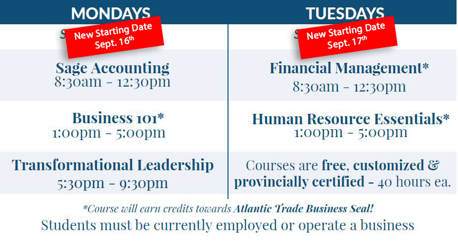 Workplace Ed. New Dates Schedule